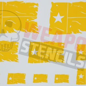 Texas State Tattered Flags